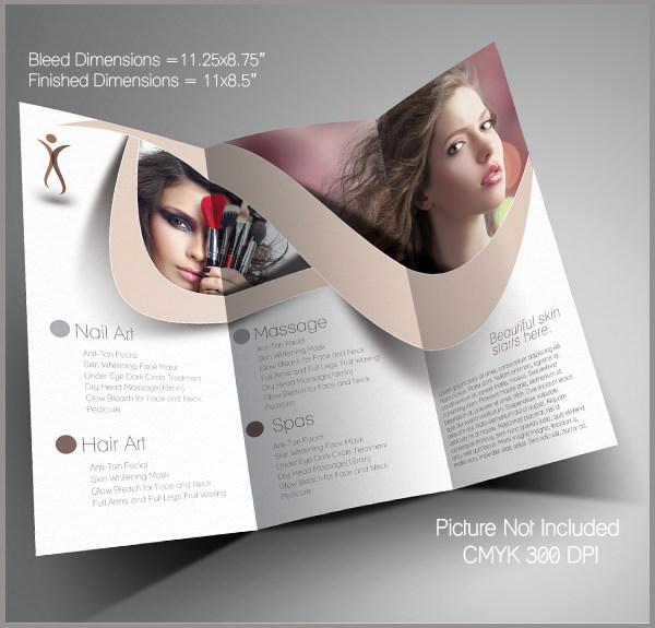 Beauty Saloon Trifold Brochure