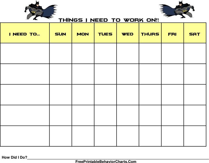 Behavior Chart For Kids 1