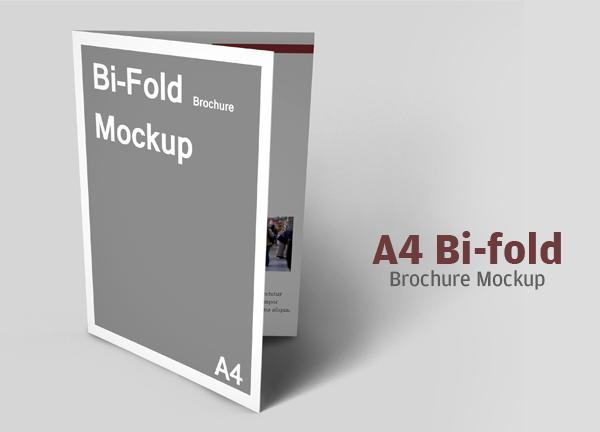 Best A4 Bifold Brochure Mockup
