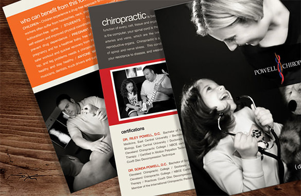 Best Powell Chiropractic Brochure Template