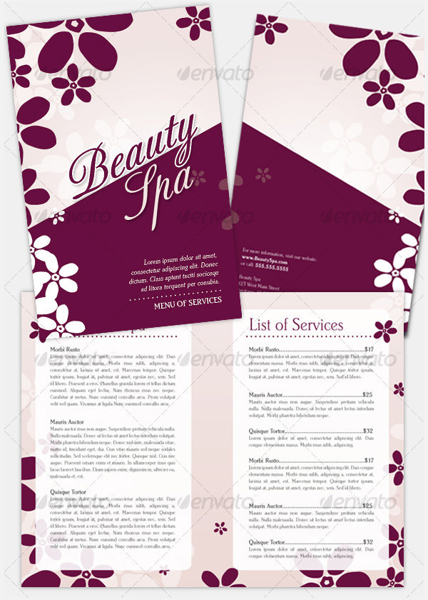 Bi-Fold Beauty Brochure