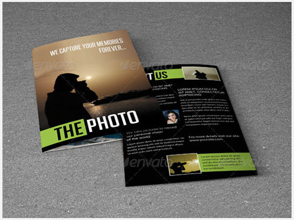 Bi-Fold Brochure Photo Template