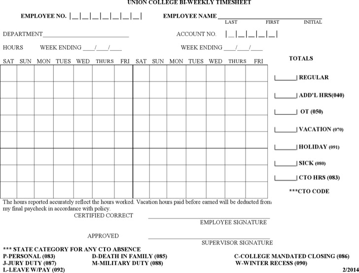 Timesheet Templates  Download Free  Premium Templates Forms