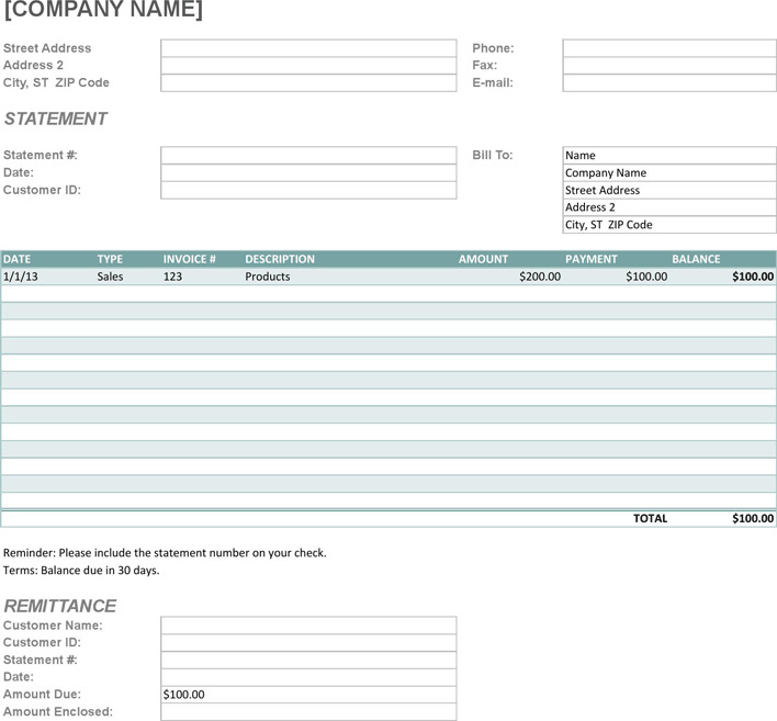 Billing Statement Template  Download Free  Premium Templates