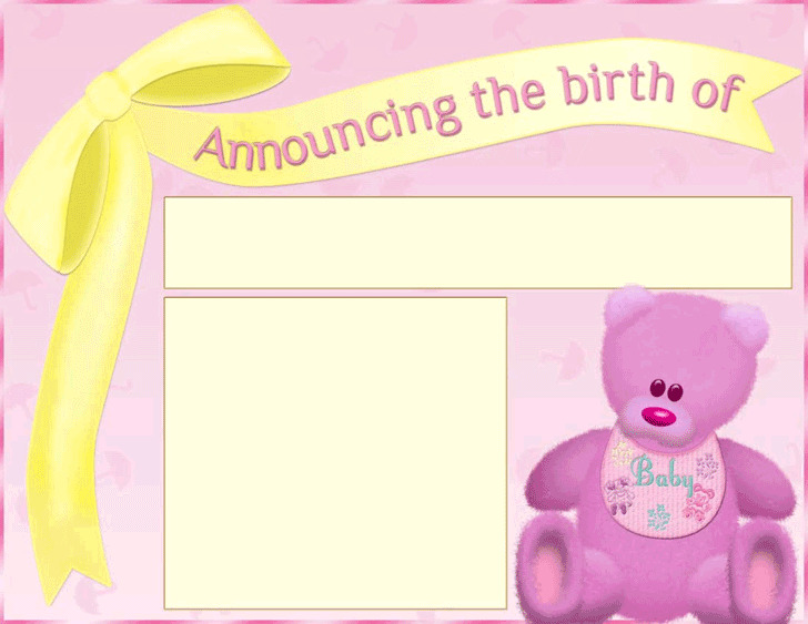 Birth Announcement Template | Download Free & Premium Templates