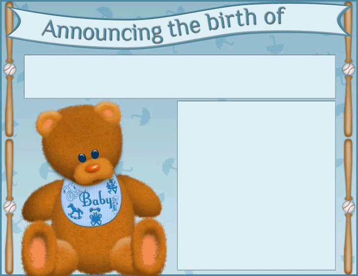 Birth Announcement Template 2