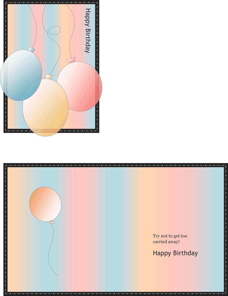Birthday Card Template 1