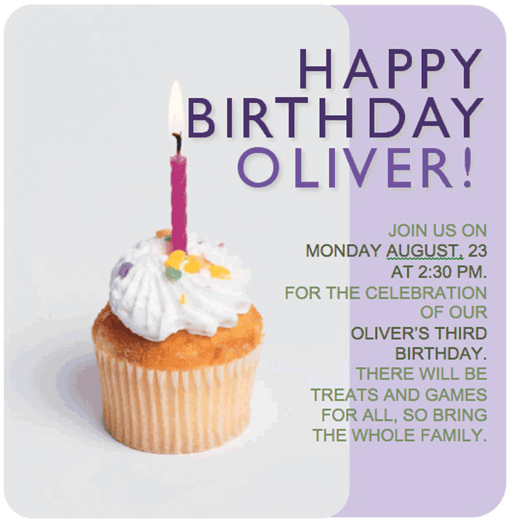 Birthday Invitation Template 2