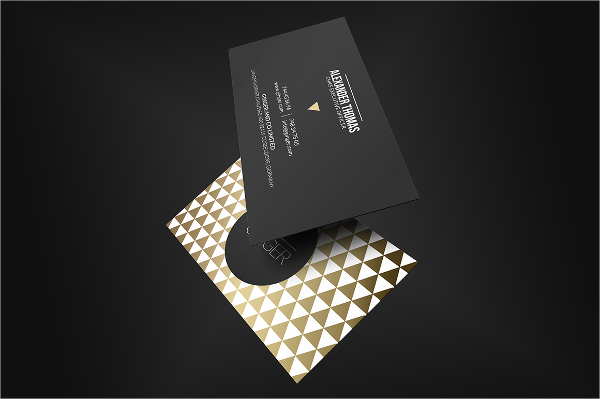 Black Business Cards With Gold Foil