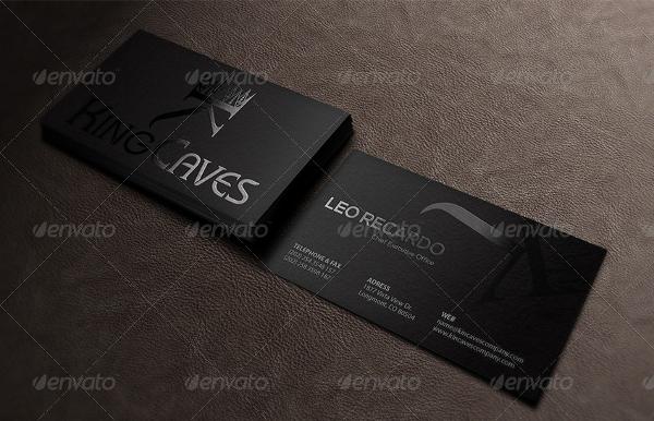 Black Spot Uv Business Card