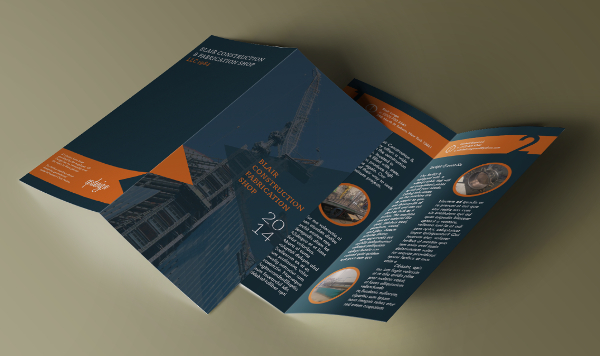 Blair Construction LLC Bi-Fold Brochure