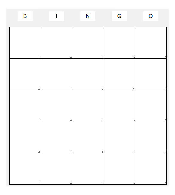 Blank Bingo Templates  Download Free  Premium Templates Forms