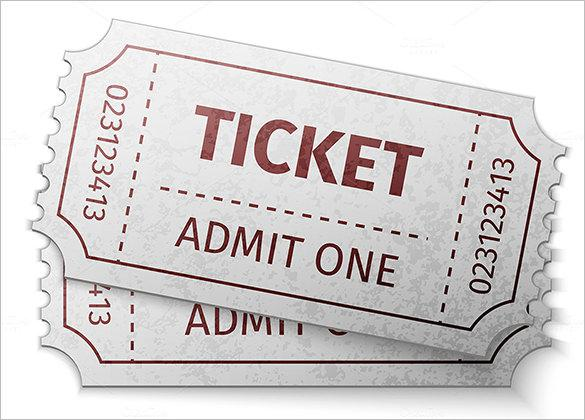 Blank Admit One Ticket Designs