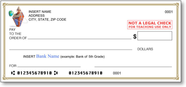 bank check template for word or excel