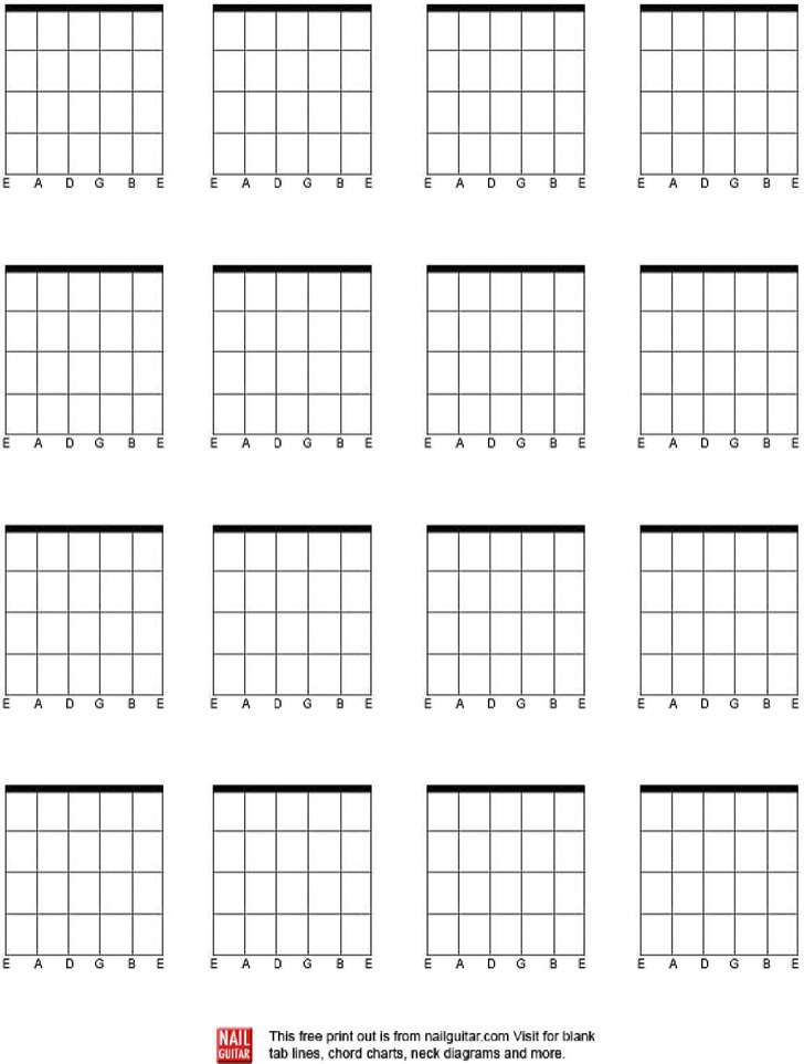 Blank Guitar Chord Charts Download Free Premium Templates Forms