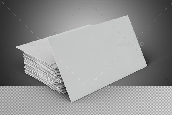 Blank Business Card On Transparent Background