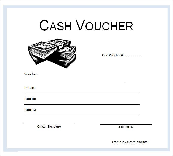 Blank Voucher Template – Cash Voucher Template
