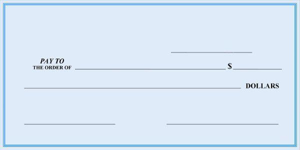 Blank check template download free premium templates for Free blank check template pdf