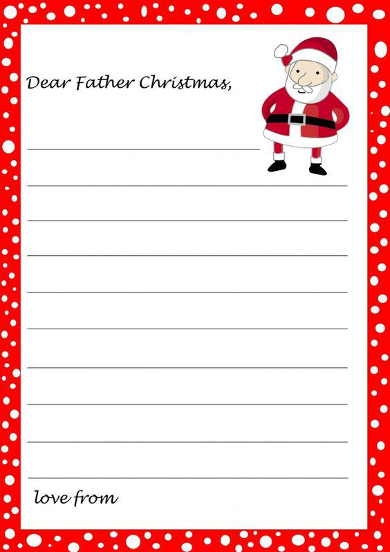 Blank Christmas Letter Template Download