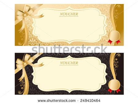 Blank Coupen Voucher Vector Template Download