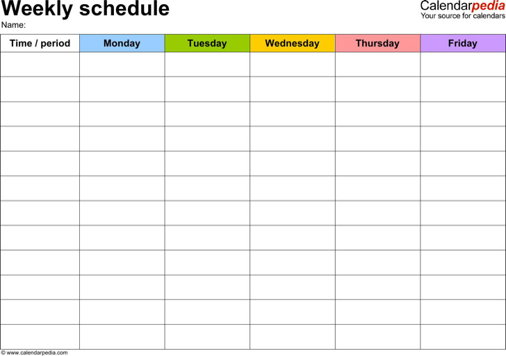 Daily Work Schedule Template | Download Free & Premium Templates