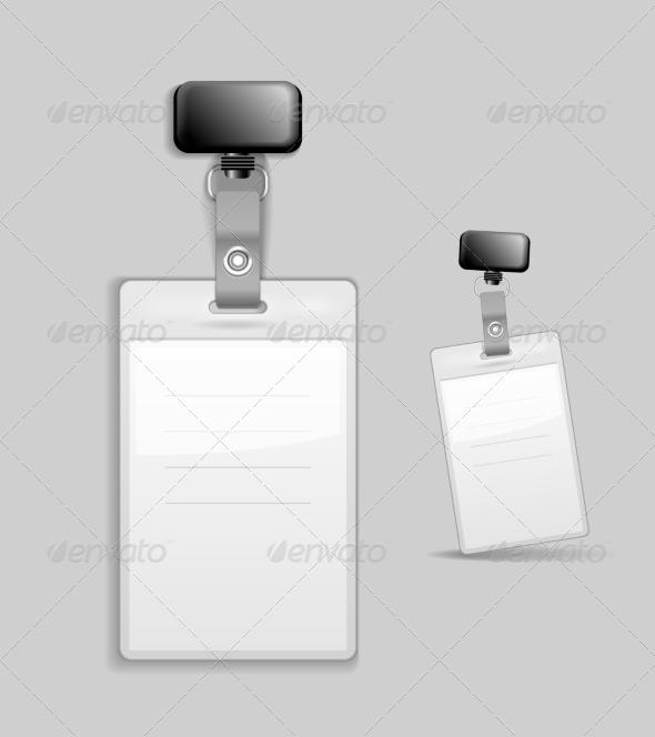 Blank Elegant ID Card Design with Tag