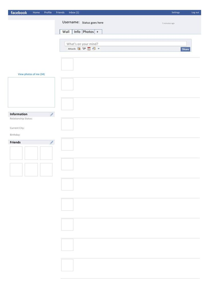8  amazing blank facebook templates free download