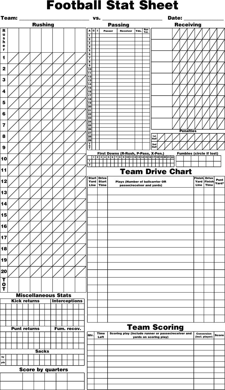 football score sheet download free amp premium templates