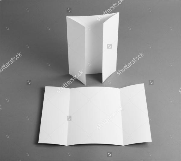 Blank Gate Fold Brochure