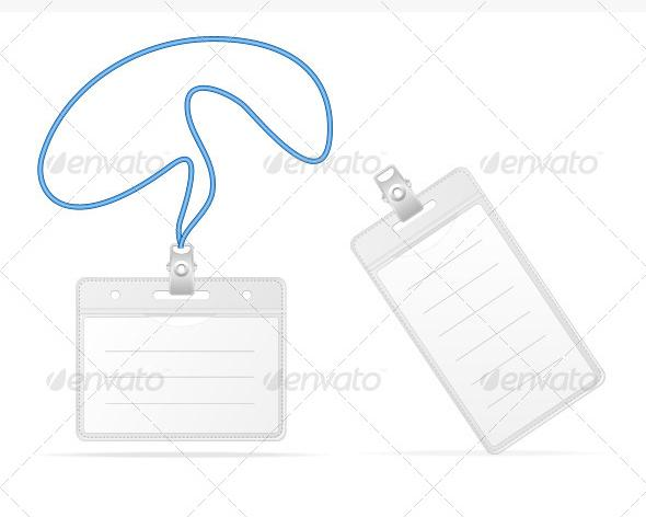 Blank Identification Cards Set