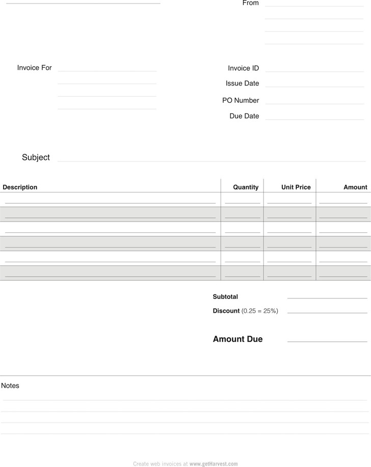 Blank Invoice Template 1  Copy Of Blank Invoice