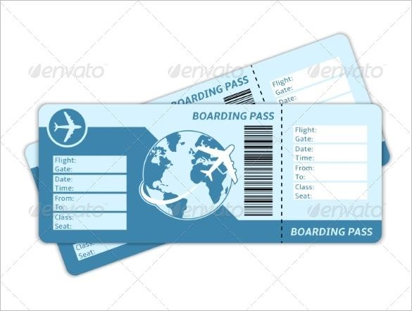 Blank Plane Ticket to Print