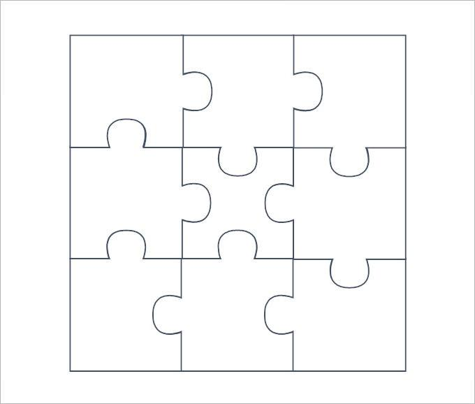 Puzzle Piece Template  Download Free  Premium Templates Forms
