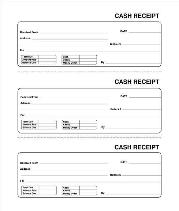 Blank Receipt PDF Format