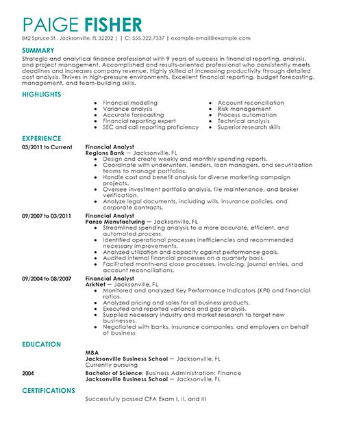 Blank Resume Template for Job Seekers