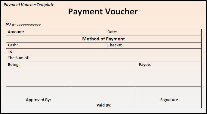 Blank Voucher Template – Sample Payment Voucher Template