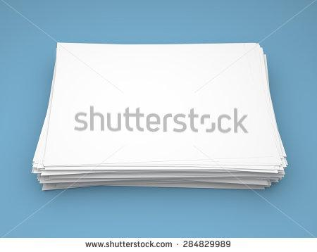 Blank White Index Postcard