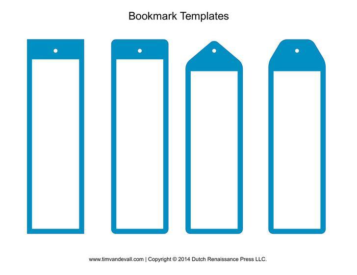 Blue Bookmarks for Boys PDF Format