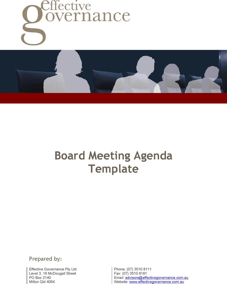 Board Meeting Agenda Template 2