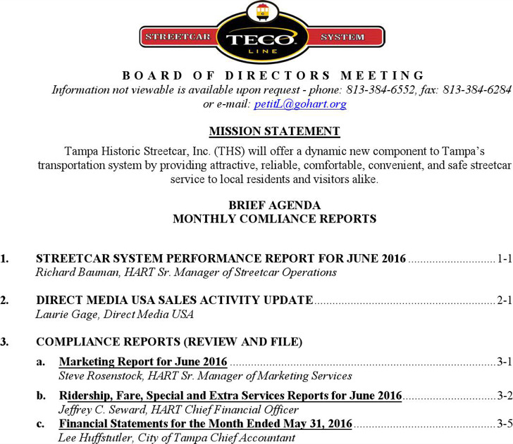 Board Of Directors Meeting Agenda Templates  Download Free