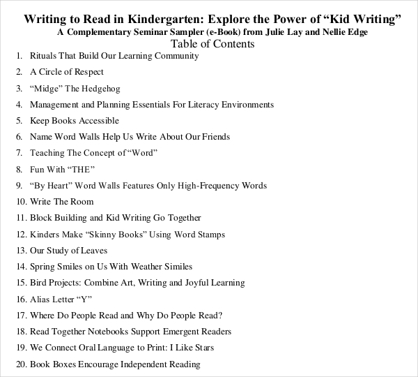 Book Writing Template for Kids Free PDF Download