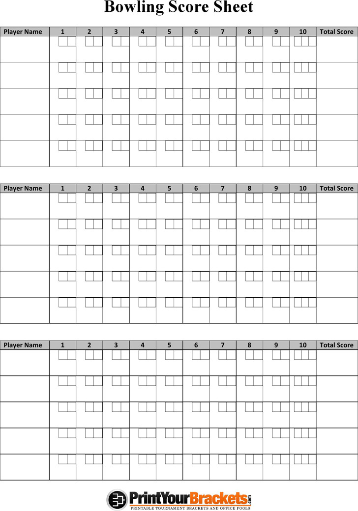 Bowling Score Sheet | Download Free & Premium Templates, Forms