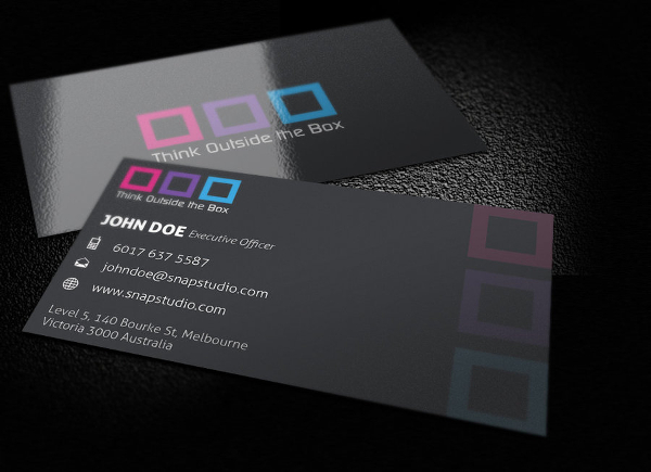 Box Artist Business Card Template