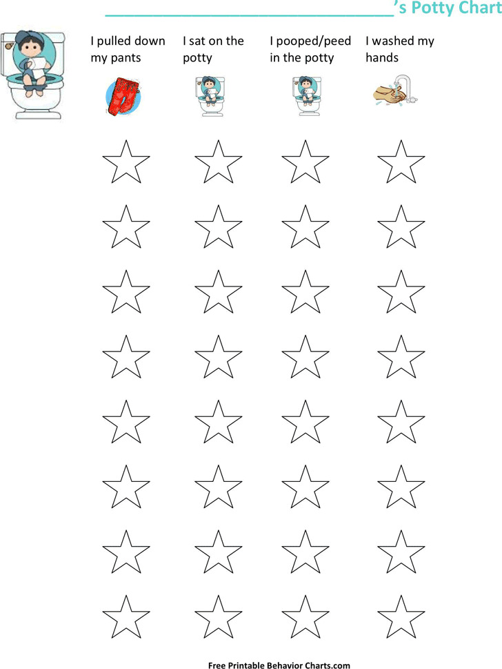 graphic about Free Printable Potty Training Charts referred to as 3+ Potty Exercising Chart Cost-free Down load