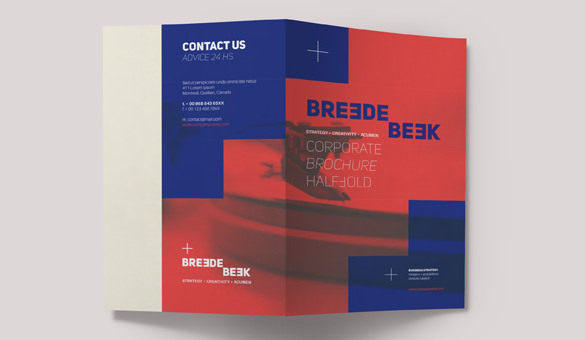 Breede Bi Fold Brochure Template Design Download