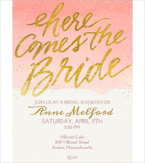 Bridal Shower Free Online Invitation Template Online