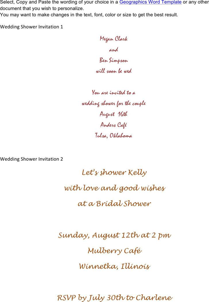 Bridal Shower Invitation Template 2