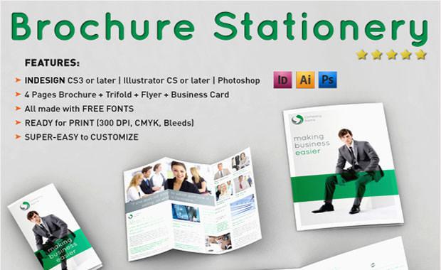 Brochure stationery