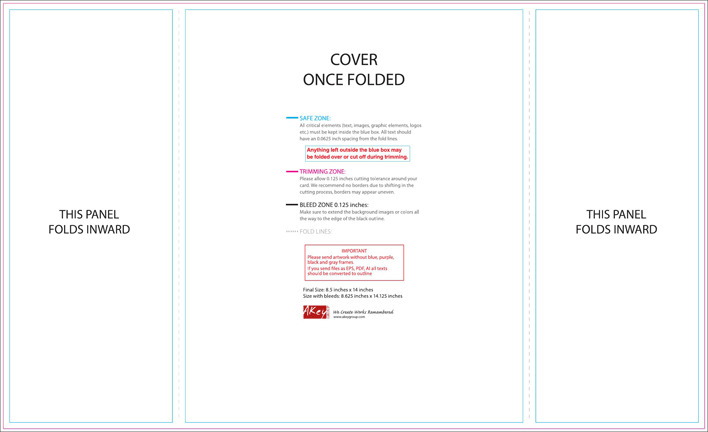 Brochure Template Gate Fold