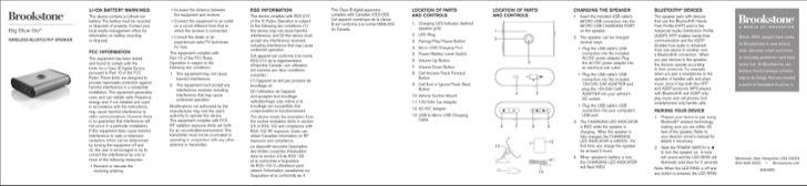 Brookstone User's Manual Sample